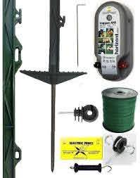 12v Mains Energiser Horse Electric Fencing Starter Kit 12mm Tape Electric Fence Electricity Starter Kit