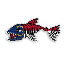 North Carolina Bone Fish Sticker Nc State Flag Fishing Car Window Bumper Decal Ebay