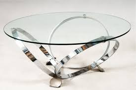 round glass coffee table metal base