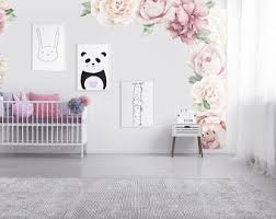 Rose Wall Decals Etsy