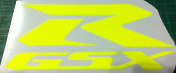 2 X Fluorescent Yellow Suzuki Style Vinyl Decal Stickers 150mm X 22mm Archives Statelegals Staradvertiser Com