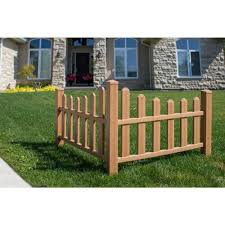 New England Arbors 2 6 Ft H X 4 6 Ft W Brown Composite Vinyl Country Corner Picket Fence Panel Va84050 In 2020 New England Arbors Front Yard Decor Corner Landscaping