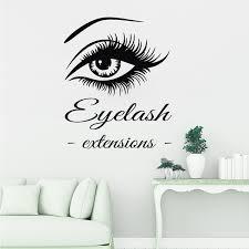 New Eye Eyelashes Wall Decal Vinyl Home Wall Sticker Large Eyebrows Wallpaper