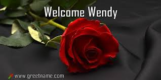 Welcome Wendy Rose Flower - Greet Name