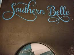 Southern Belle Car Decal Southern Belle Decal Vinyl Decal Etsy