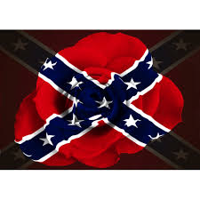 Rebel Rose Battle Flag Sticker