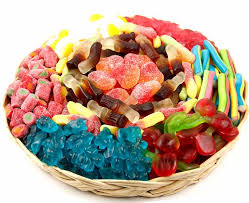 gummy wicker gift tray candy gifts