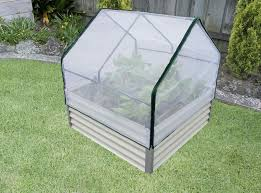 raised garden bed with netting and