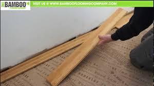how to install bamboo flooring tongue