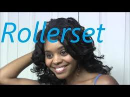 how to roller set natural hair