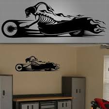 Motorcycle Wall Decal Racing Wall Sticker Trailer Racing Decal 48 X 16 Ebay