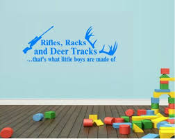Home Furniture Diy Wall Decals Stickers Rifles Racks And Deer Tracks Thats What Little Boys Are Made Of Wall Decal Stick Mtmstudioclub Com