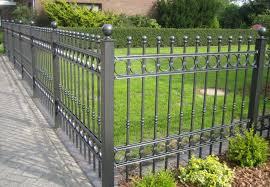 gray metal garden fencing all home