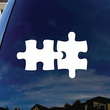 Autism Puzzle Piece Car Window Vinyl Decal Sticker