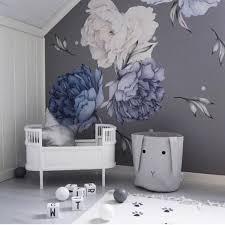 Blue Flower Wall Stickers In 2020 Blue Flowers Decor Nursery Wall Decals Kids Wall Decals