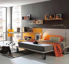 Grey And Orange Modern Teen Bedroom Color My Home Deco Mag