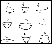 how to draw mouths lessons how to draw