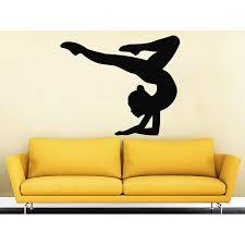 Shop Gymnast Wall Decals Sport Girl Gymnastics Dance Studio Decal Home Sticker Decal Size 22x26 Color Black Overstock 14155116