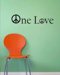 Bob Marley One Love Version 1 Decal Quote Sticker Wall Vinyl Art Decor Boop Decals