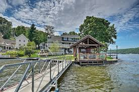 luxury lakefront house w dock in the