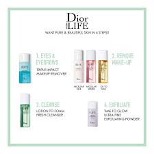dior hydra life oil to milk makeup