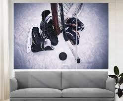 Ice Hockey Wall Art Hockey Canvas Print Hockey Decor Boys Etsy