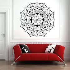 Mandala Vinyl Wall Decal Living Room Background Window Wall Dcoration Om Symbol Wall Sticker Lotus Home Decor Bedroom Yoga Z611 Wall Stickers Aliexpress
