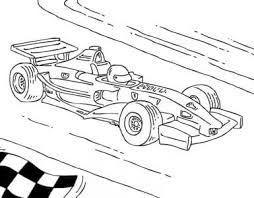 Formule 1 Auto Kleurplaat Kleurplaatje Nl