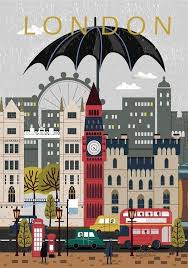 Pin by Mercedes Meyer on Dormitorios | London poster, Travel prints, Wall  art prints