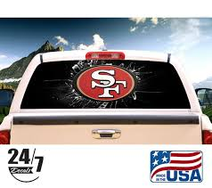San Francisco 49ers Rear Window Graphic Perf Decal Tint Print Etsy