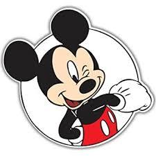 Amazon Com Mickey Mouse Decal Sticker Black 4 Premium Die Cut Vinyl Automotive