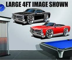 1966 7 Pontiac Gto 389 Tri Power 4ft Long Wall Graphic Decal Sticker Man Cave For Sale Online Ebay