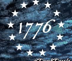 1776 13 Stars Decal Dumbdecals Com