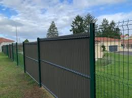 Metal Panel Fence High Quality Euro Home Metal Welded Green Vinyl Coated Garden Fence Metal Pan