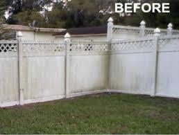 Fence Power Washing Afer Inti Painting Pressure Washing