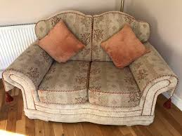 two seater sofa and matching storage