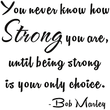 Amazon Com You Never Know How Strong You Are Until Being Strong Is Your Only Choice Bob Marley Inspirational Home Mural Quote Wall Sticker Decals Transfer Words Lettering Wallpaper Size1 11 4 X 11 4