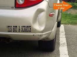 Tis But A Scratch Decal Sticker Funny Decal Funny Etsy