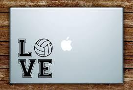Amazon Com Love Volleyball Laptop Decal Sticker Vinyl Art Quote Macbook Apple Decor Sports Home Kitchen