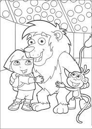 Leeuw Dora En Boots Kleurplaat Gratis Kleurplaten Printen