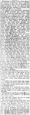 Myrtle Howard Nessly wedding, Hazel a bridesmaid. Wichita Daily Eagle, 27  Jun 1909, Page 2 - Newspapers.com