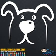 Cute Doggie Face Car Window Decal Sticker