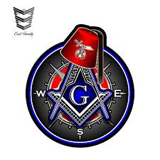 Earlfamily 12cm X 10 5cm Masonic Shriner Compass Square Decal Vinyl Sticker Car Styling Personality Car Stickers Car Body Decals Car Stickers Aliexpress