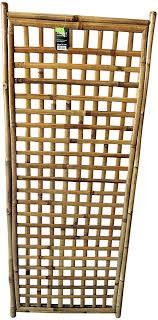 Framed Bamboo Lattice Panel Square Pattern Opening 24 W X 60 H Amazon Co Uk Garden Outdoors