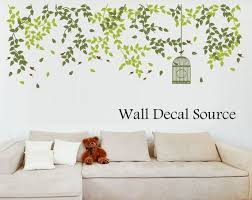 Hanging Vine Wall Decal Around Window Above Reading Area Wall Decals Bird Cage Wall Decals Vine Wall