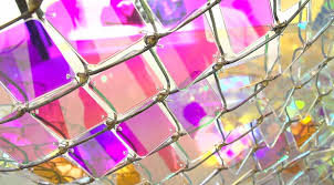 Shimmering Chain Link Fence Installation By Soo Sunny Park Chain Link Fence Installation Chain Link Fence Light Installation