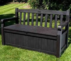 outdoor wooden storage bench outdoor