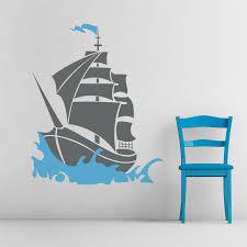 Pirate Ship Wall Decal Pirate Theme Wall Sticker