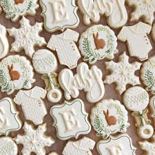 Pin by Adela Hill on baby shower in 2020 | Baby shower cookies ...