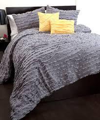 gray modern chic comforter set zulily